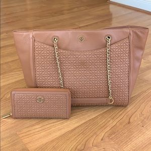 Tory Burch purse and matching wallet
